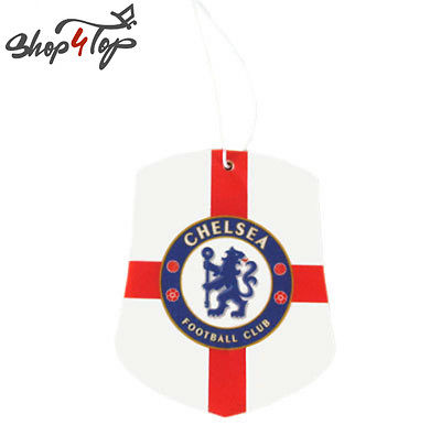 CHELSEA FC FOOTBALL SOCCER CLUB TEAM CAR AIR FRESHENER CITRUS SCENT HANGING GIFT