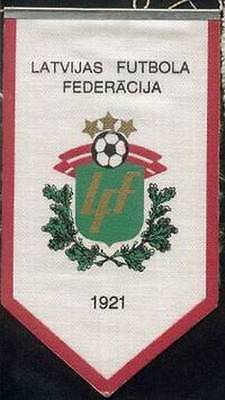 LATVIA FOOTBALL FEDERATION OLD LOGO SMALL PENNANT #2
