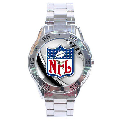 *NEW* HOT NFL LOGO STAINLESS STEEL ANALOG MENS WRIST WATCH SEXY!